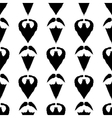 Beard Mustache Silhouette Seamless Background vector image