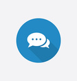 chat Flat Blue Simple Icon with long shadow vector image