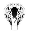 Cobra snake tattoo vector image