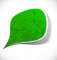 Green grunge speech label design vector image