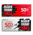 2 black friday sale banners on dynamic background vector image