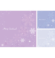 abstract background of snowflakes vector image vector image