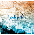 abstract hand painted watercolor background vector image