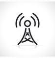 antenna tower thin line icon