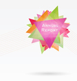 Background with Triangles and Lines Annual Report vector image vector image