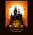 banner for halloween with scary gothic castle vector image