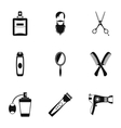 Barber icons set simple style vector image vector image