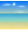 Beach Holiday Background vector image vector image