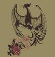 bird vintage print vector image vector image