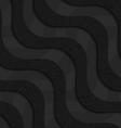 Black textured plastic diagonal waves layered vector image vector image