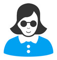 blind woman flat icon vector image