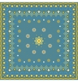Blue handkerchief with yellow ornament vector image vector image
