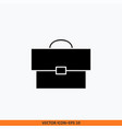 briefcase icon sign web office solid black on vector image