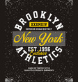 brooklyn athletics t-shirt graphic vector image vector image