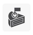 cake icon black vector image