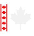 canadian flag ribbon maple leaf frame background vector image