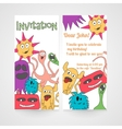 Card with abstract monsters pattern vector image
