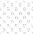 castle tower pattern seamless vector image vector image