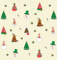 christmas background seamless tiling great choic vector image vector image