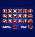 christmas buttons for web and 2d games ui normal vector image