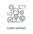 client support line icon client support vector image vector image