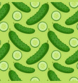 cucumber seamless pattern endless background vector image vector image