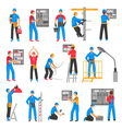 Electric People Decorative Icons Set vector image vector image