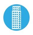 emblem apartment building line sticker vector image vector image