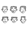 emotions doodle vector image vector image