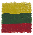 Flag of Lithuania handmade square shape vector image vector image