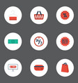 flat icons cash pouch percentage and other vector image vector image