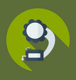 flat modern design with shadow icon gramophone vector image vector image