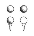 golf tee and ball icon vector image