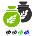 grain harvest sacks flat icon vector image vector image