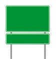 green blank roadsigns vector image
