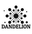 growing dandelion logo icon simple style vector image