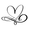 Hand drawn love border flourish heart separator