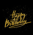 happy birthday beautiful greeting card with vector image