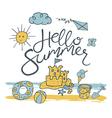 hello summer pattern vector image vector image