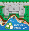 hotel is on beach vector image vector image
