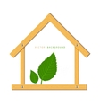 house wood vector image vector image