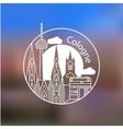 Koln linear logo Trendy stylish landmarks vector image vector image