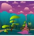 landscape night park with trees vector image vector image