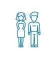 marital relationship linear icon concept marital vector image