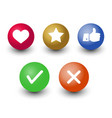 mark check okcancel like voting and rating icon vector image vector image