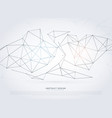 modern wireframe network background in digital vector image