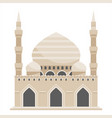 mosque muslim traditional architecture house vector image