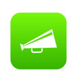 mouthpiece icon digital green vector image