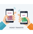 Online money trasfer concept vector image