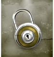 Padlock old-style vector image vector image